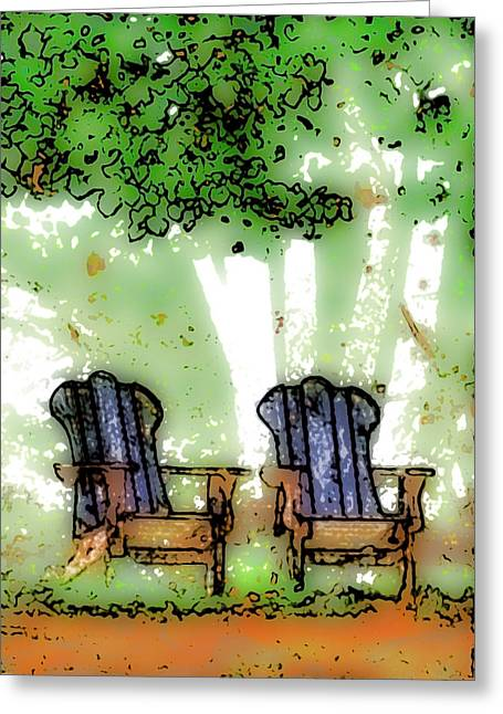At The Edge Of The Woods Greeting Card