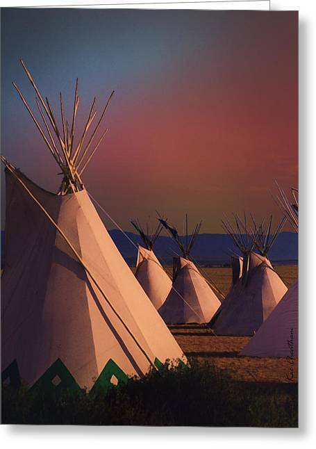 At The Encampment Greeting Card