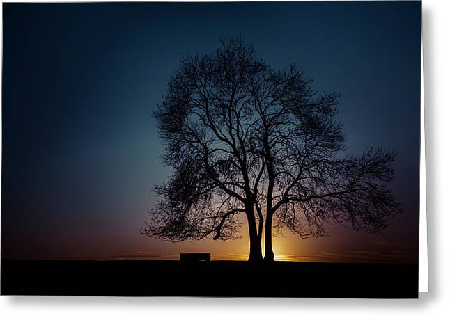 At The End Of The Day Greeting Card by Chris Fletcher