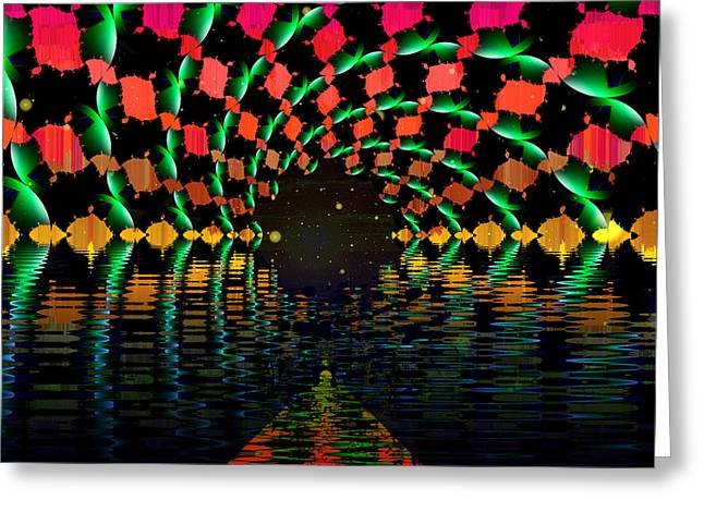 At The End Of The Tunnel Greeting Card by Faye Symons