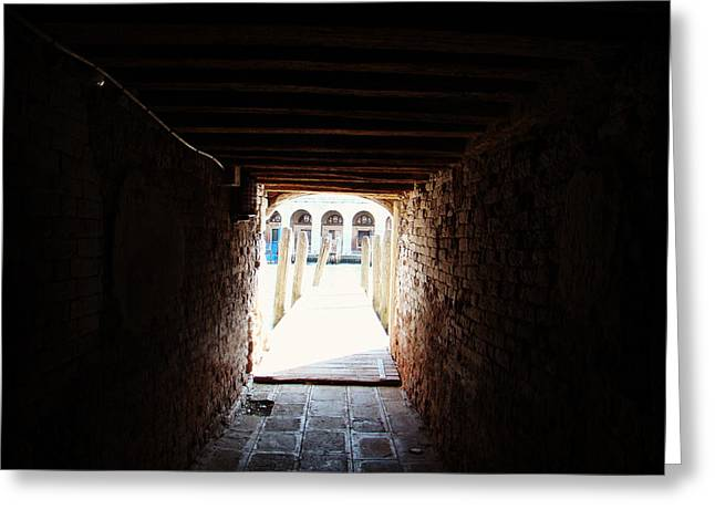 At The End Of The Tunnel Greeting Card by Zinvolle Art