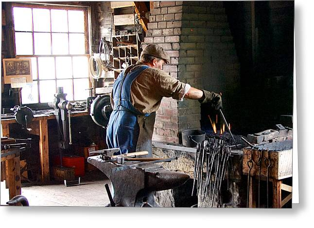 At The Forge Greeting Card
