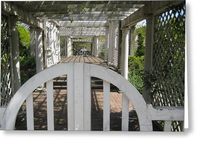 At The Garden Gate Greeting Card by Melissa McCrann
