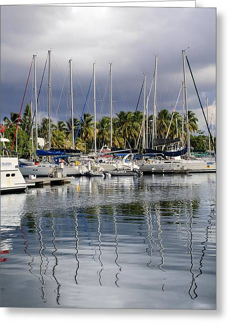 At The Marina Greeting Card by    Michael Glenn
