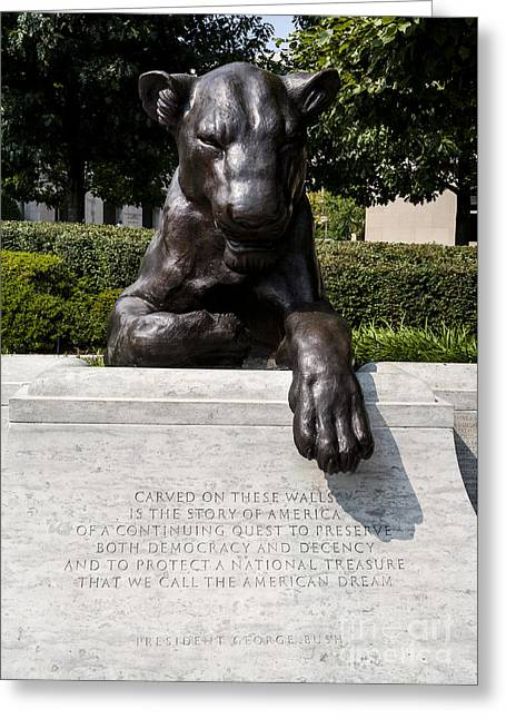 At The National Law Enforcement Officers Memorial In Washington Dc Greeting Card