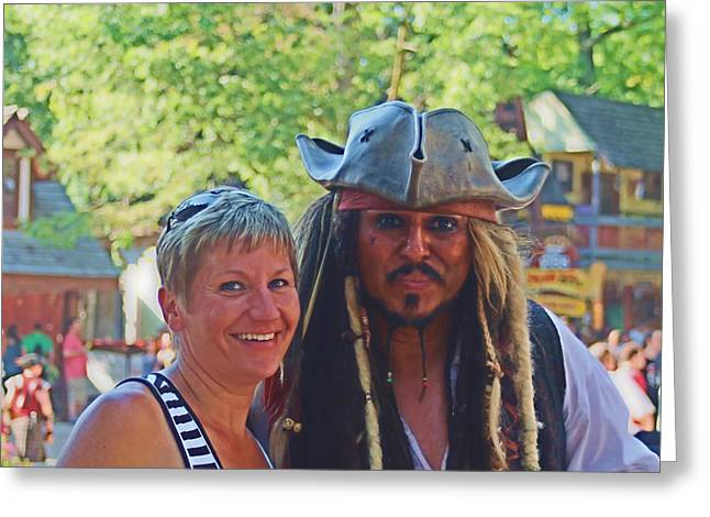 At The Renaissance Fair Greeting Card by Victoria Sheldon
