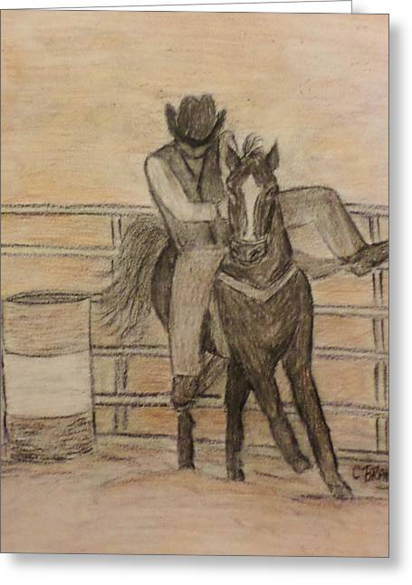 At The Rodeo Greeting Card by Christy Saunders Church