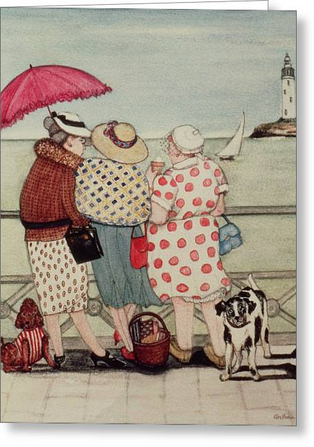 At The Seaside Greeting Card by Gillian Lawson