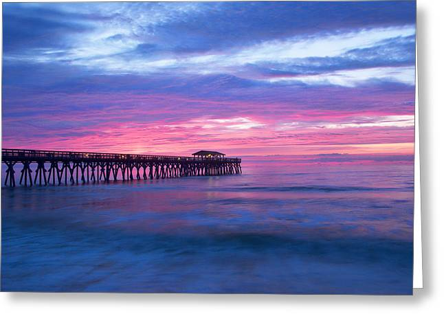 Myrtle Beach State Park Pier Sunrise Greeting Card by Vizual Studio