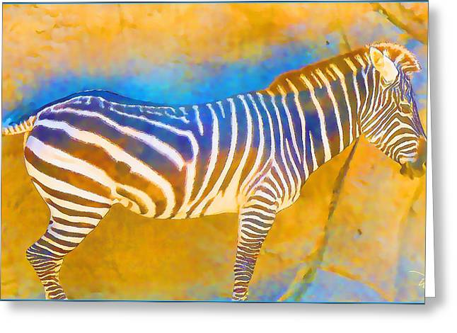 At The Zoo - Zebras Greeting Card
