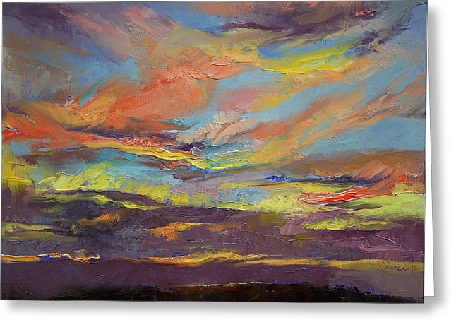 Atahualpa Sunset Greeting Card by Michael Creese