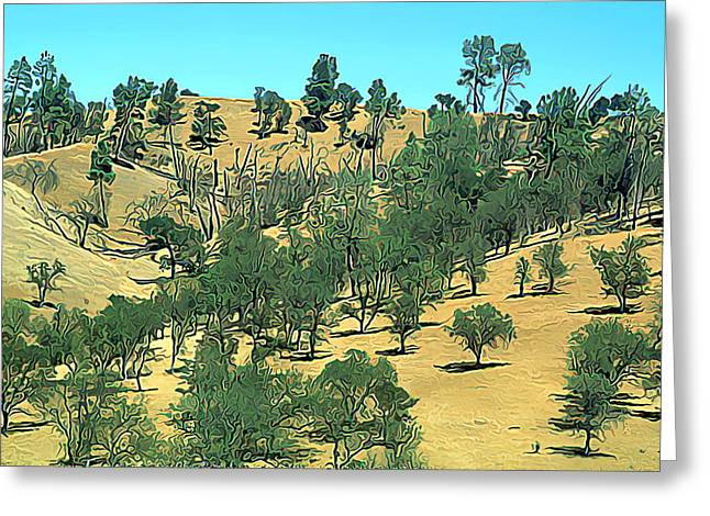 Atascadero Summertime Trees Greeting Card by Wernher Krutein