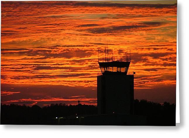 Atc Tower 001 Greeting Card