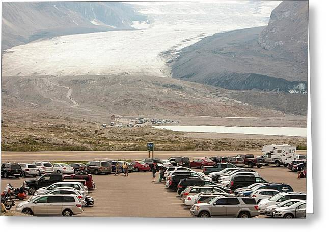 Athabasca Glacier Is Receding Rapidly Greeting Card by Ashley Cooper