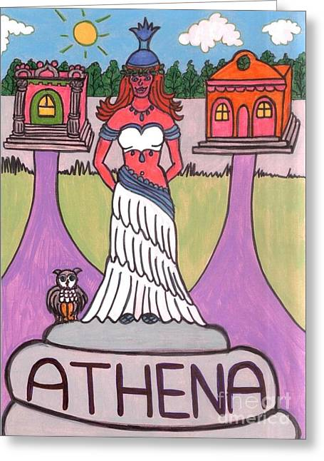 Athena Greeting Card