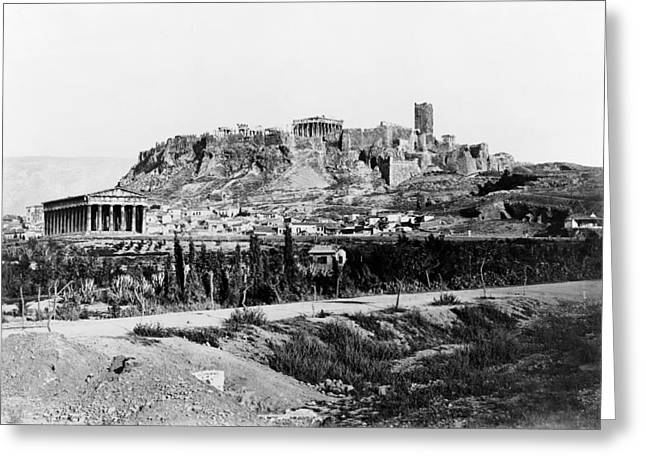 Athens Acropolis Greeting Card by Granger