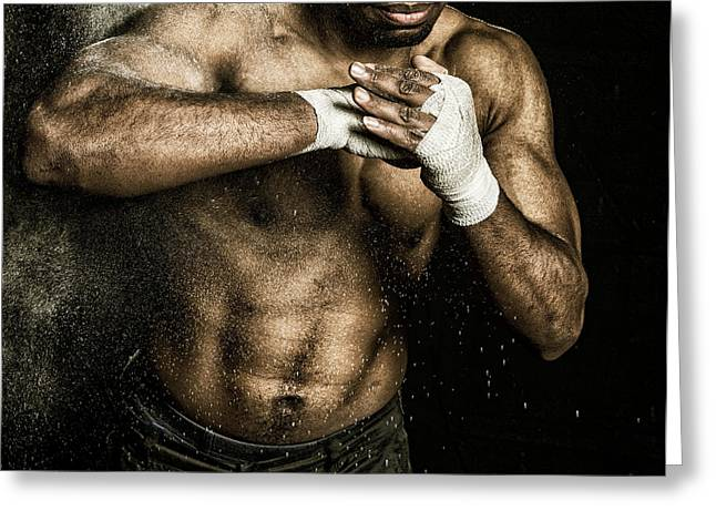 Athlete Power Greeting Card by Pedro Correa