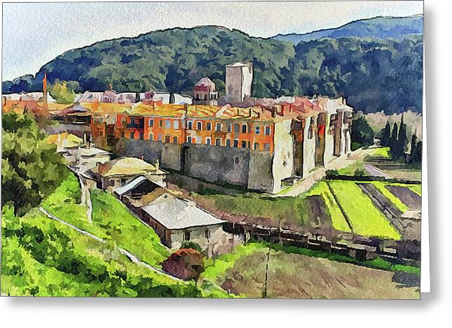 Athos Holly Place 1 Greeting Card by Yury Malkov
