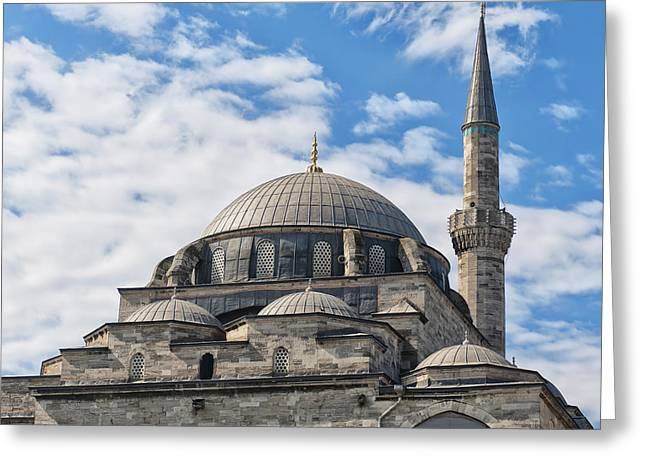 Atik Ali Pasha Mosque 02 Greeting Card by Antony McAulay