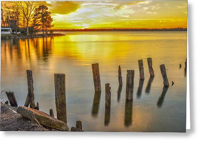 Atkins Landing Greeting Card by Donnie Smith