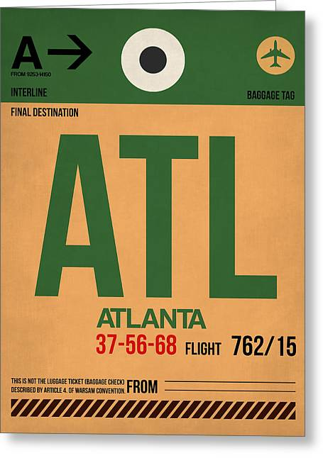 Atlanta Airport Poster 1 Greeting Card by Naxart Studio