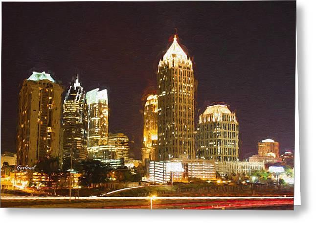 Atlanta At Night Greeting Card