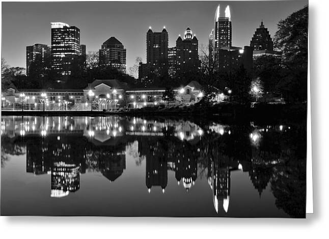 Atlanta Black And White Greeting Card by Frozen in Time Fine Art Photography