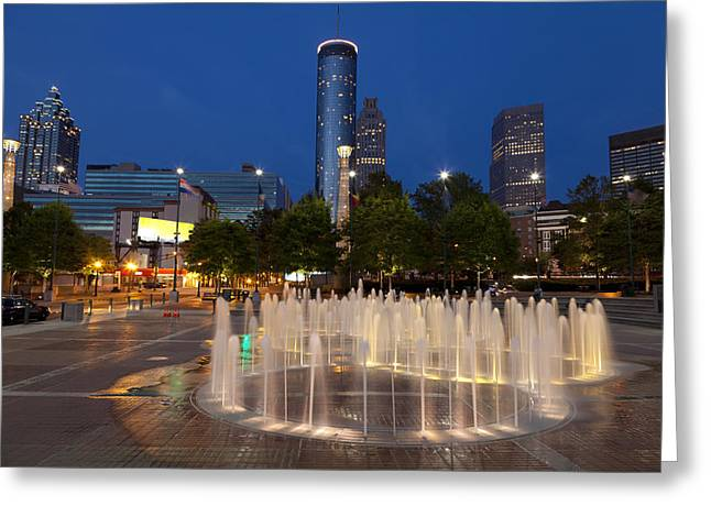 Atlanta By Night Greeting Card