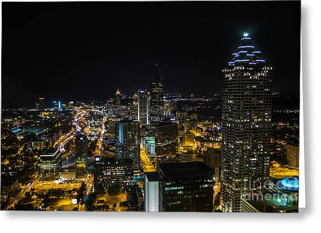 Atlanta City Lights Greeting Card