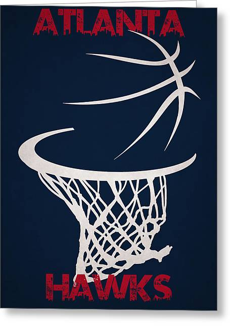 Atlanta Hawks Hoop Greeting Card by Joe Hamilton