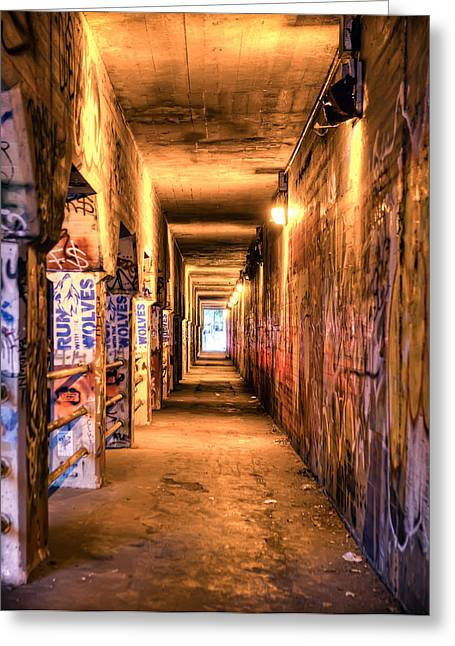 Greeting Card featuring the photograph Atlanta Krog St Tunnel. by Anna Rumiantseva