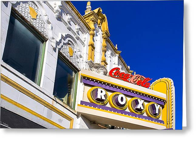 Greeting Card featuring the photograph Atlanta Roxy Theatre by Mark E Tisdale