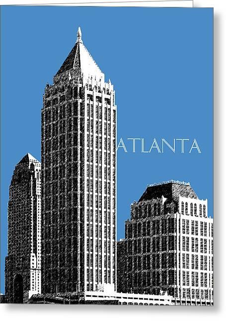 Atlanta Skyline 1 - Slate Blue Greeting Card by DB Artist
