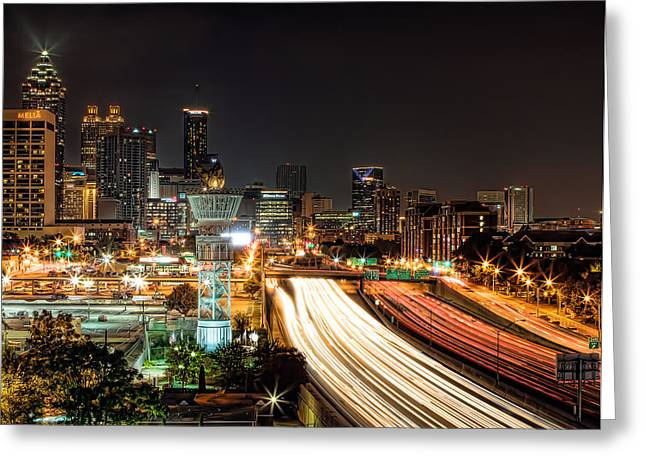 Greeting Card featuring the photograph Atlanta Skyline by Anna Rumiantseva