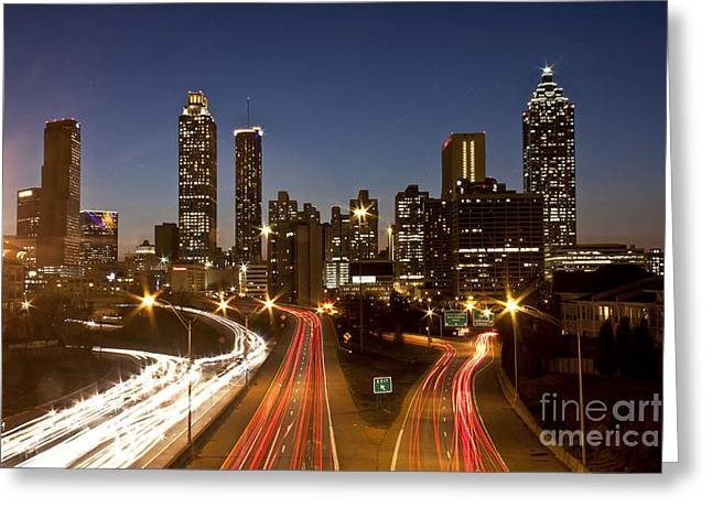 Atlanta Skyline - Jackson St Bridge Greeting Card