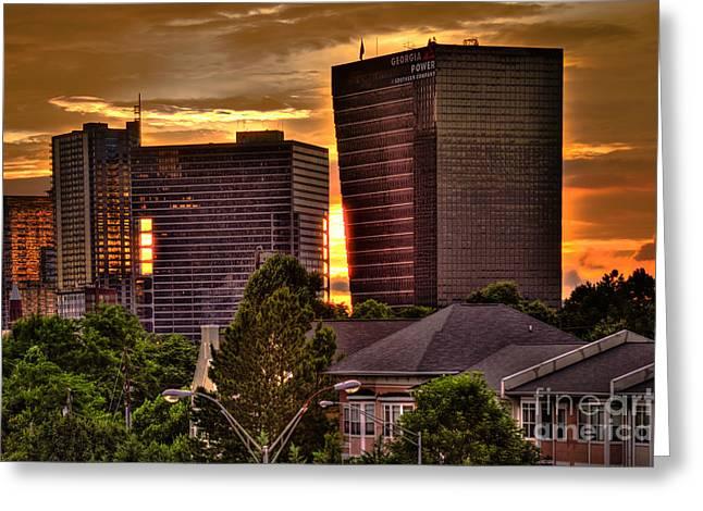 Georgia Power Building Sunset Greeting Card