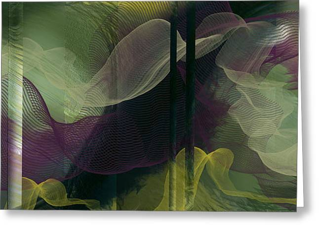 Atlantian Scarves Greeting Card by Constance Krejci