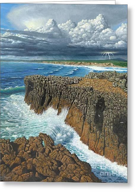 Atlantic Breakers Pontal Portugal Greeting Card
