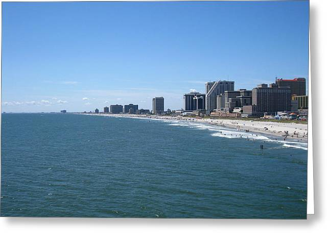 Atlantic City - 12127 Greeting Card by DC Photographer