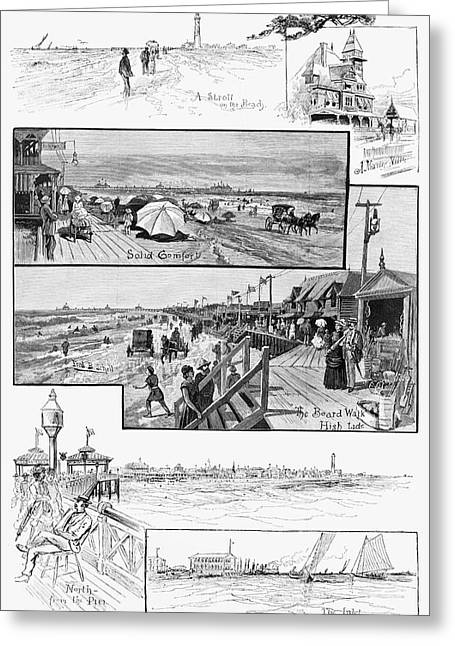 Atlantic City, 1883 Greeting Card by Granger