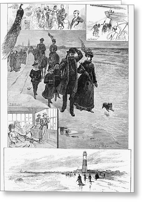 Atlantic City, 1884 Greeting Card by Granger