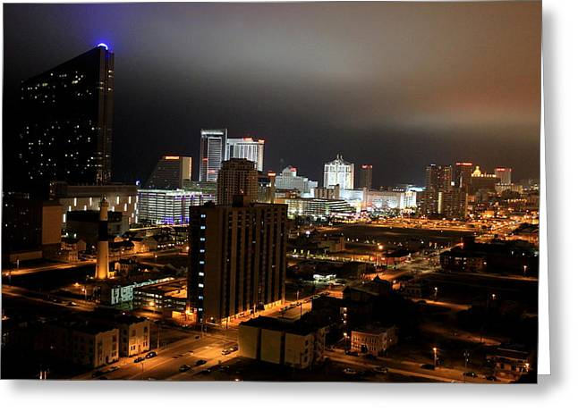 Atlantic City At Night Greeting Card