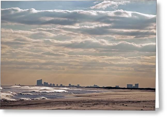 Atlantic City Skyline II Greeting Card by Elsa Marie Santoro