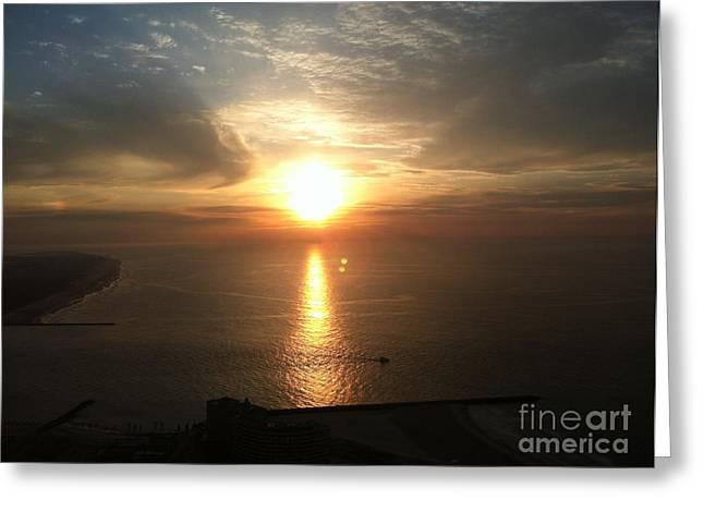 Atlantic City Sunset Greeting Card