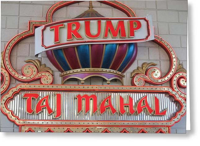 Atlantic City - Trump Taj Mahal Casino - 12121 Greeting Card by DC Photographer