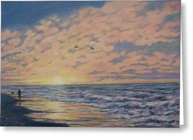 Atlantic Dawn # 2 By K. Mcdermott Greeting Card by Kathleen McDermott