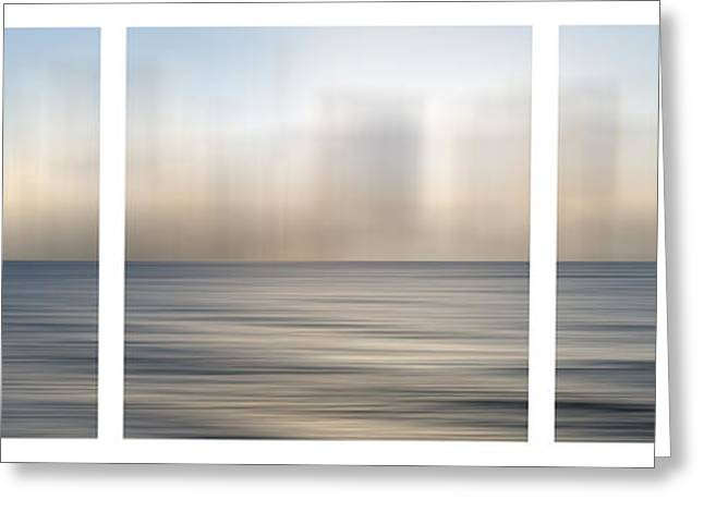 Atlantic Evening Greeting Card by Sabine Jacobs