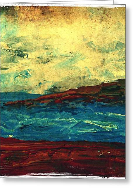 Atlantic Ocean Beach Scene Greeting Card by Laura Carter