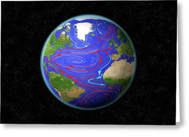 Atlantic Ocean Currents Greeting Card by Carol & Mike Werner