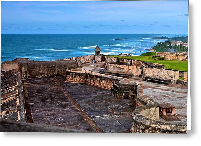 Greeting Card featuring the photograph Atlantic Ocean From Fort San Cristobal by Ricardo J Ruiz de Porras